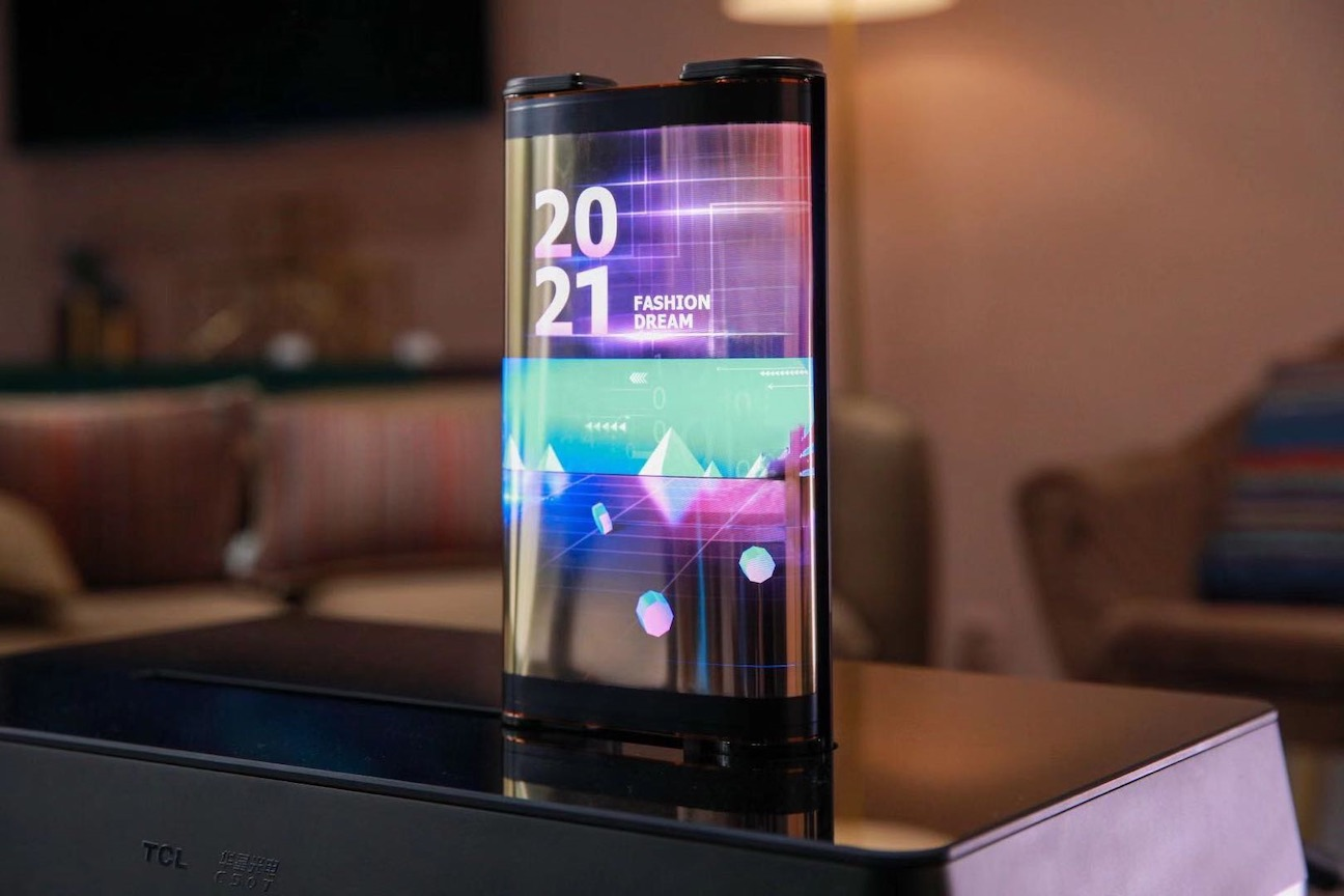 TCL_CES2021_Printed OLED Scrolling Display_scrolled